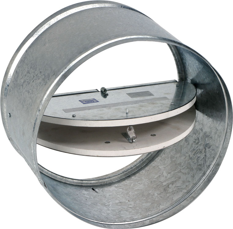 Two Bladed Insulated Static Round Ceiling Radiation Damper