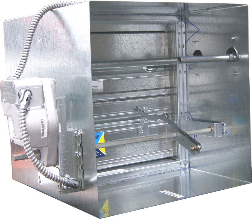 Class i single thickness blade smoke damper for Motorized smoke fire damper