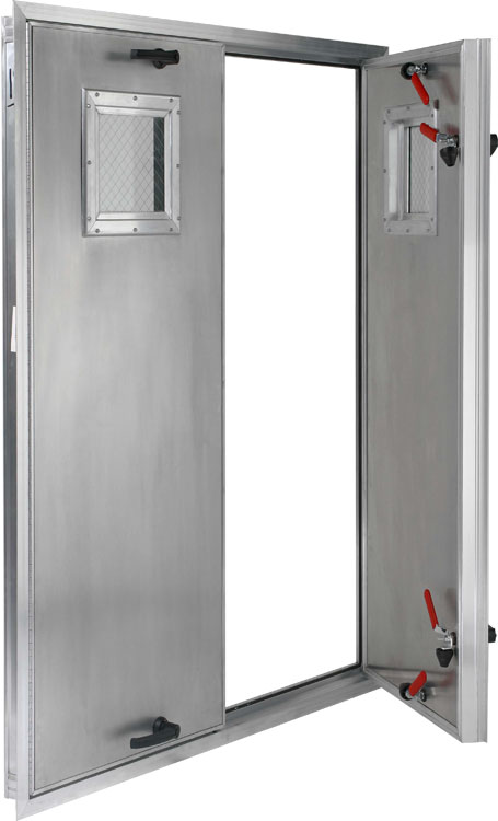 Quot deep insulated aluminum door out swing