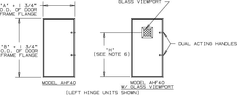 Positive Pressure Door Dimensions. 4  Deep Insulated Aluminum Door In Swing
