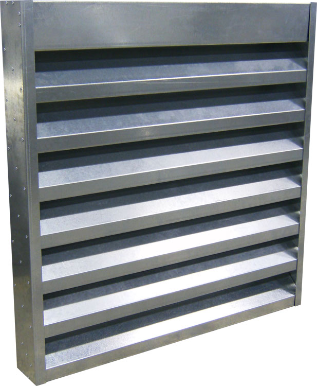 4 Deep Steel Acoustical Louver 45 Blades High Low Frequency